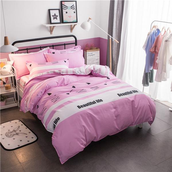 pink, queensizebeddingset, King, duvetcoverset