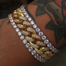 Crystal Bracelet, Fashion, Chain bracelet, hiphopbracelet