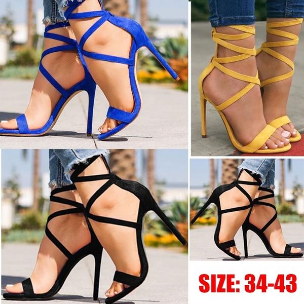 stilettoheel, Summer, strappysandal, Women Sandals