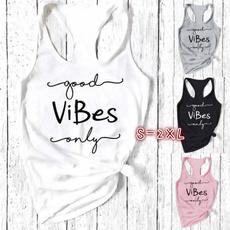 Women Vest, Vest, Fashion, letterprintedshirt