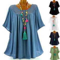 blouse, Plus Size, ruffle, Lace