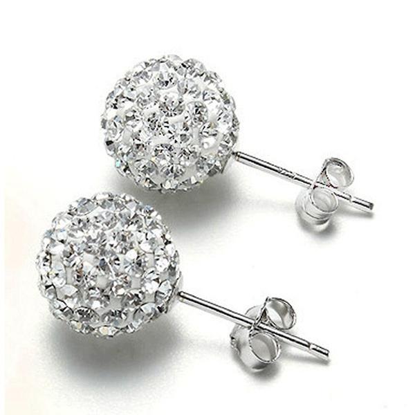 DIAMOND, Jewelry, earringsforgirl, ballearring