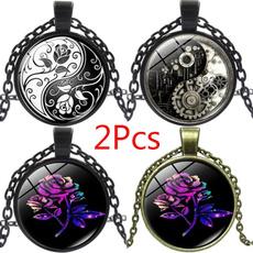 Girlfriend Gift, Jewelry, Chain, Rose