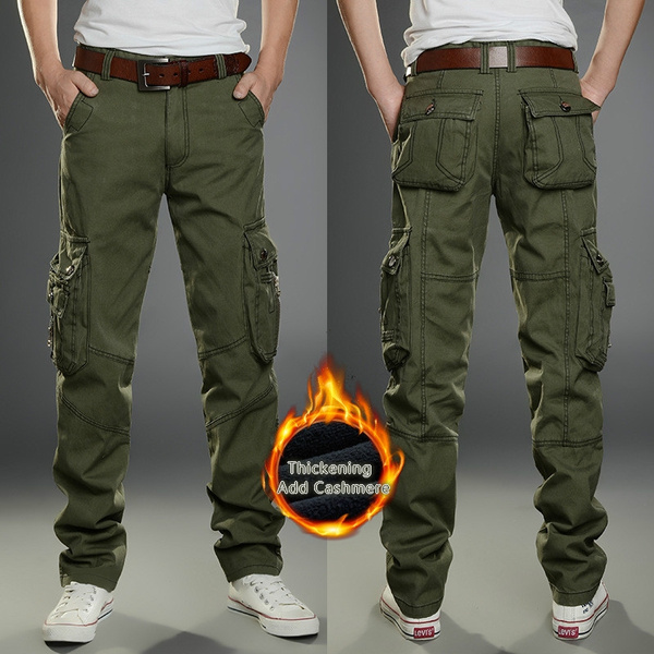 Fashion, multiplepocket, Winter, Casual pants