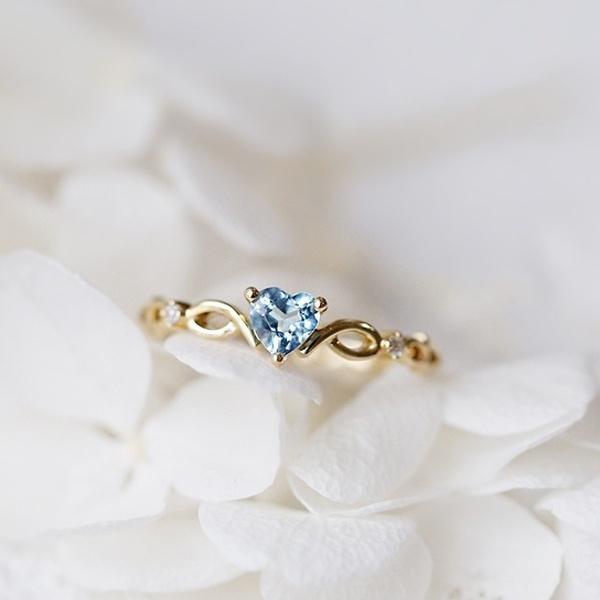 sky blue, Heart, DIAMOND, Jewelry