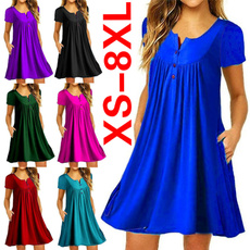 Summer, short sleeve dress, ruffle, Mini