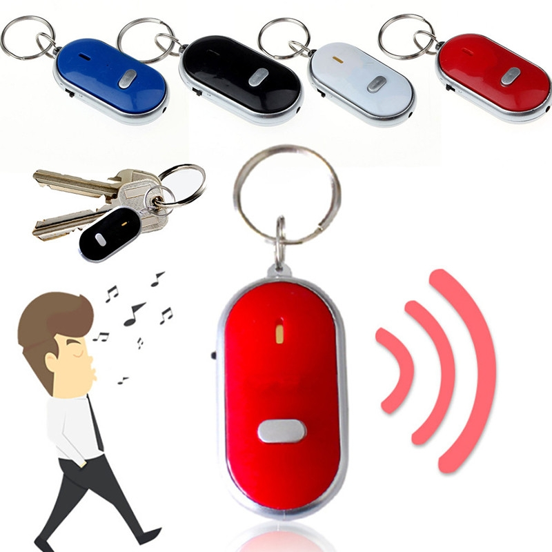 Anti-lost Whistle//Shout Key Remote Wireless Smart Locator Sound Alarm with LED