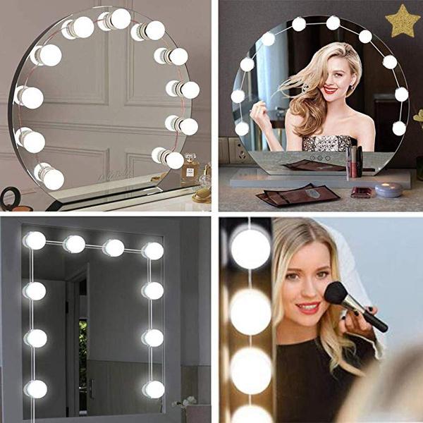 Vanity Mirror Lights Kit Hollywood, Makeup Mirror Light Kit