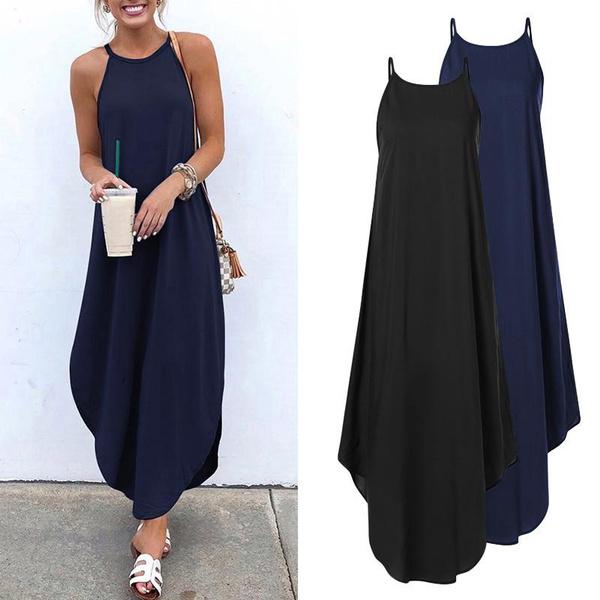 Summer, Plus Size, vest dress, robefemme