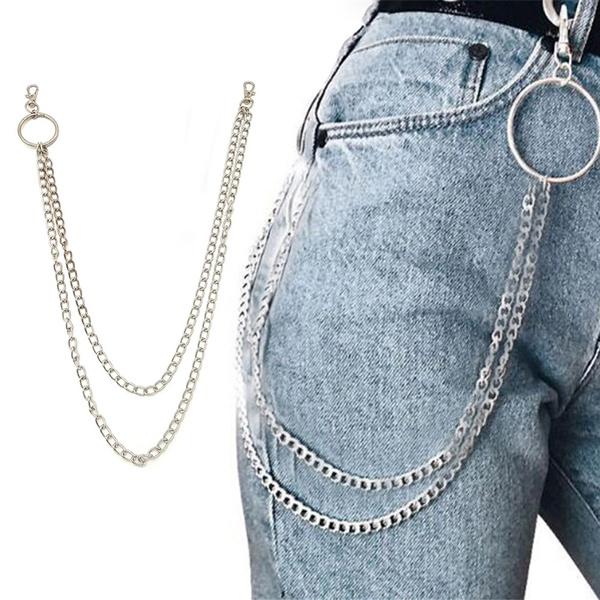 Rock Punk  Biker Link  Wallet Chain Belt Pants KeyChain Hip Hop Jewelry