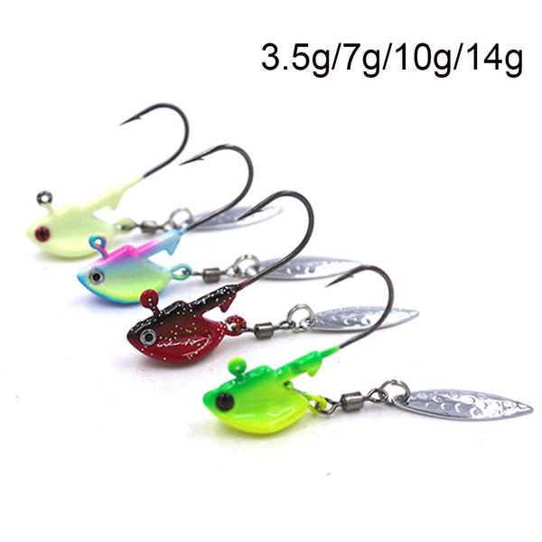 Hard 4 colors  Hook Jig Head  Metal Spoons  Crank Bait VIB Fishing Lures