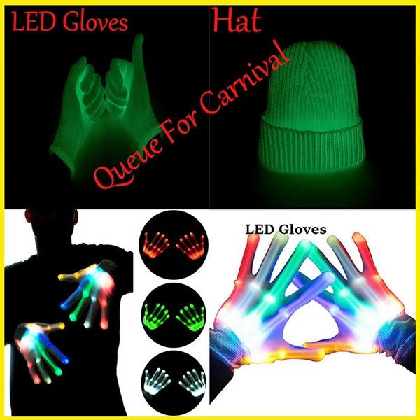 led, Skeleton, Colorful, glowglove