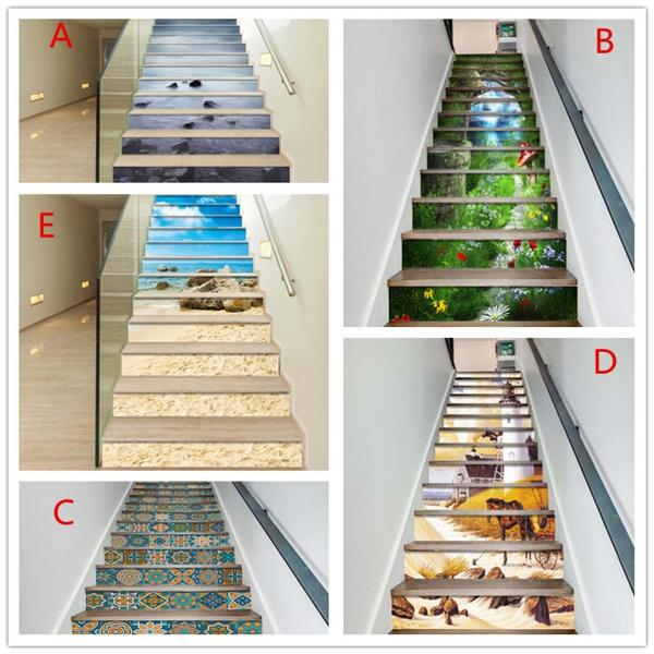 Wallpaper, stairssticker, stair, stairswallsticker