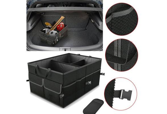 19.7x5.9x9.0 Inch Grey Trunk Cargo Organizer Foldable Caddy Storage Collapse Bag Bin for Car Truck SUV Material Felt Cloth Barcley Car Storage Bag