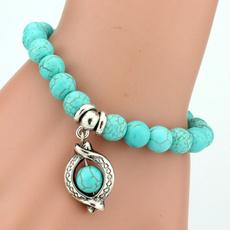 Charm Bracelet, Bracelet, Turquoise, Love