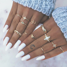 crystal ring, Star, ringsset, crown
