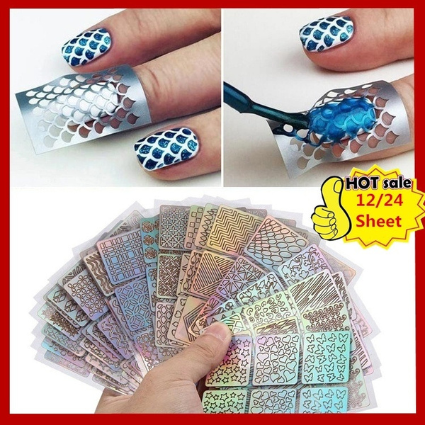 nail decals, Laser, Beauty, Nail Art Accessories