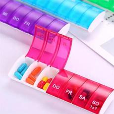 case, weeklypillorganizer, medicinetabletbox, portable