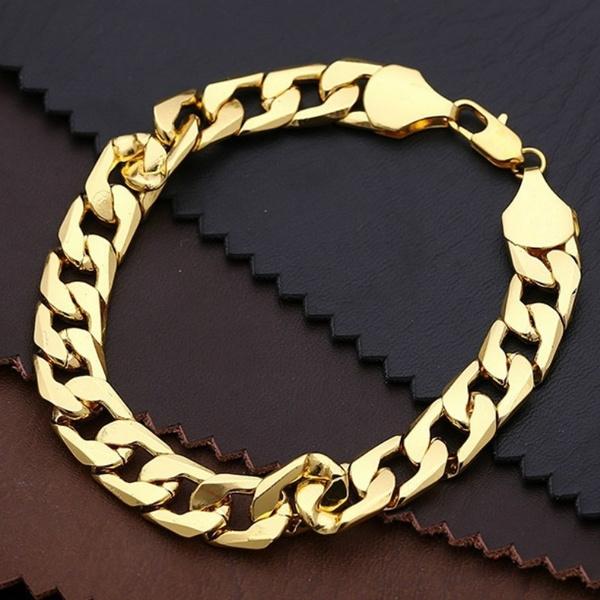 goldplated, Sideways, Chain bracelet, Jewelry