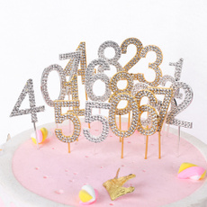 happybirthday, gold, diamondcaketopper, caketopper