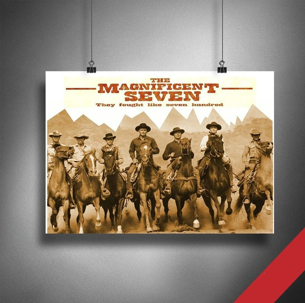 themagnificentseven, art, Home Decor, Home & Living