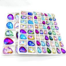 Mixed Lots, Jewelry Making, Glass, teardropcrystalbead