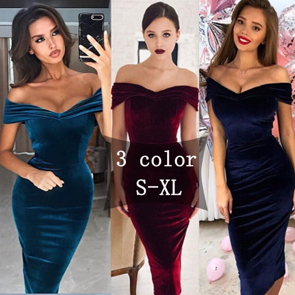 Spring Fashion, Women, Strapless Dress, velvet