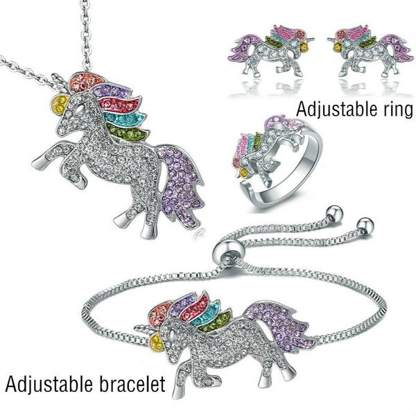 Sterling, DIAMOND, unicornring, luckyjewelry