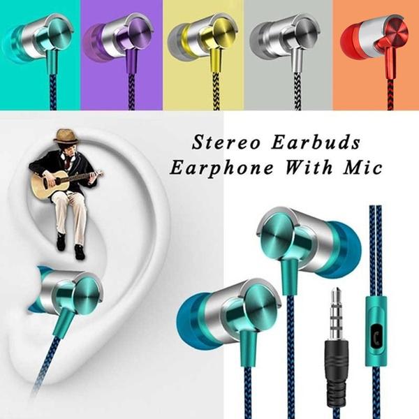 Stereo, Earphone, Bass, Iphone Headphones