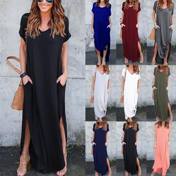 Women, short sleeve dress, Sleeve, robefemme