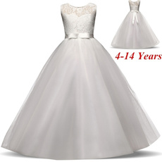 Sleeveless dress, tullepartydre, Lace, white dresses