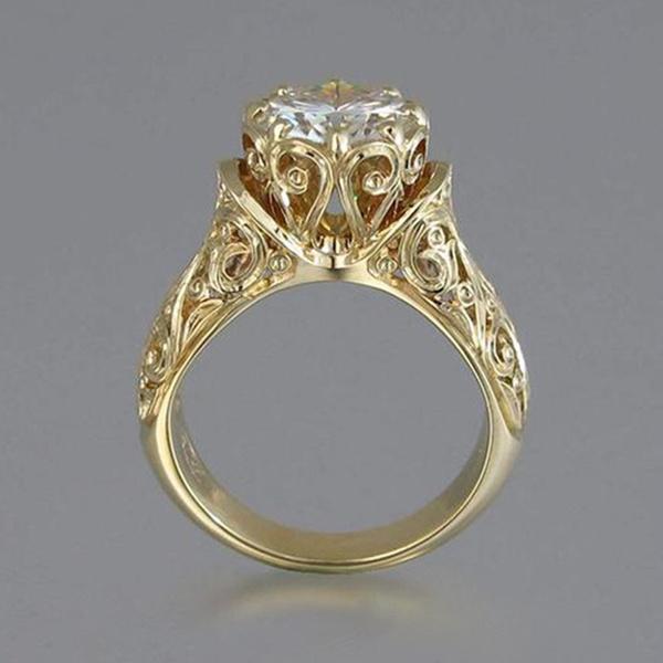 Antique, 18k gold, wedding ring, 925 silver rings