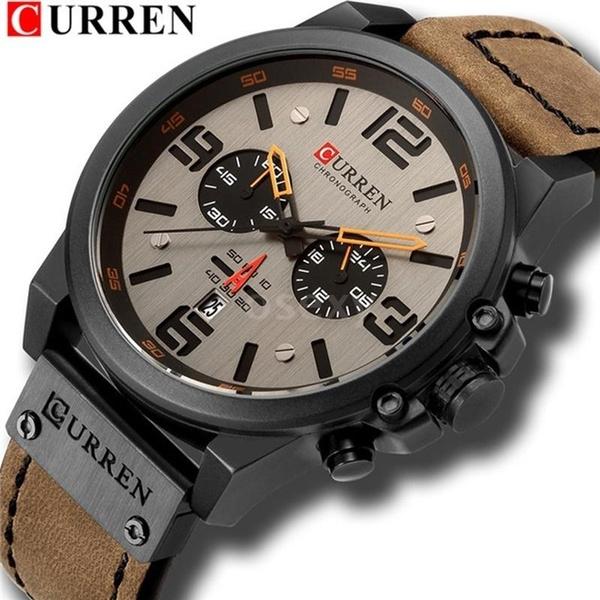 quartz, leather, quartz watch, Men