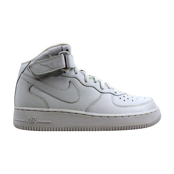 donde quiera Sacrificio elegante  Nike Air Force 1 Mid White/White 313643-111 Men's   Wish