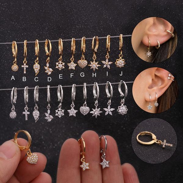 daintyearring, goldplated, Hoop Earring, Jewelry