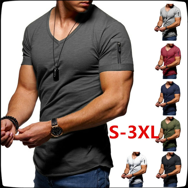 Mens T Shirt, Fitness, Shorts, Cotton T Shirt