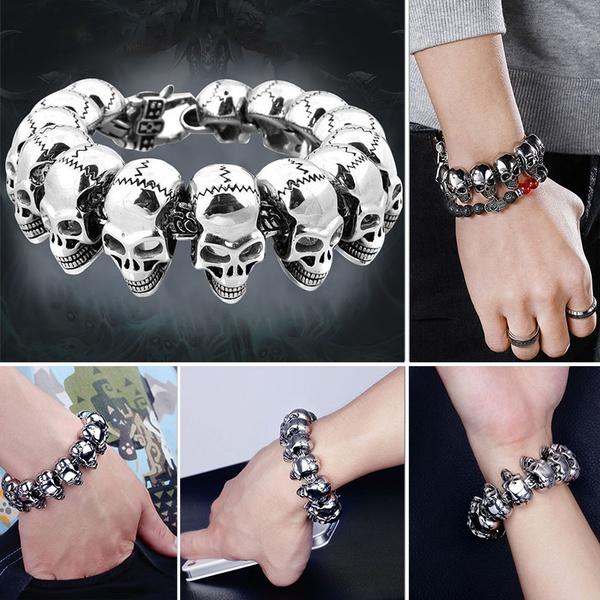 punkrockjewelry, Punk jewelry, Titanium Steel Bracelet, Jewelry