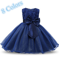 girls dress, girlsbowknotdres, princesspartydres, Princess