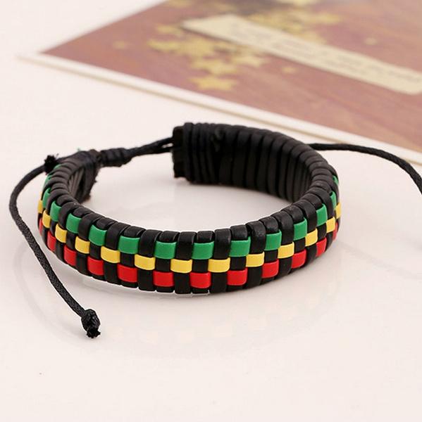 bobmarleybracelet, rasta, wovenbracelet, Bracelet