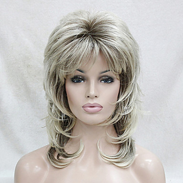 Synthetic, wig, hunmanhair, Medium