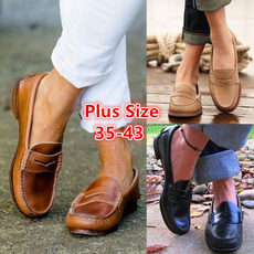 casual shoes, Flats, softbottom, leather shoes