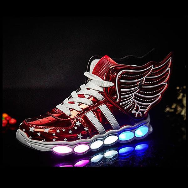 wingsshoe, shiningshoe, lights, led