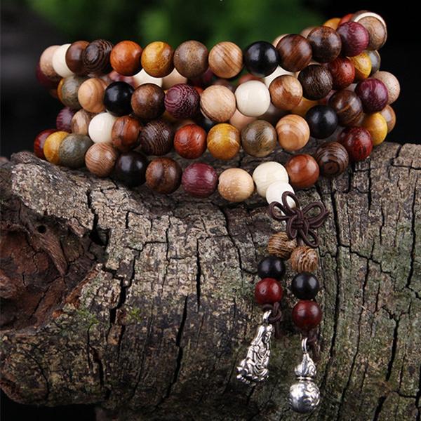 Charm Bracelet, sandalwoodbracelet, woodbracelet, buddhabracelet