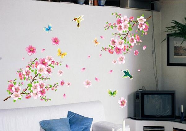 peachwallsticker, art, Home Decor, cherryblossom