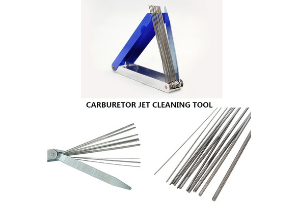 DishyKooker Carb Jet Cleaning Tool Set Carburetor Wire Cleaner Set for Motorcycle ATV Parts for Car Accessories