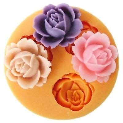 rosecakemold, Flowers, fondantmold, siliconemould