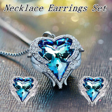 Heart, Angel, angelwingsnecklace, necklace charm