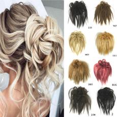 wig, curlymessybun, scrunchie, womenhairpiece