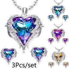 Heart, Silver Jewelry, Angel, angelwingsnecklace