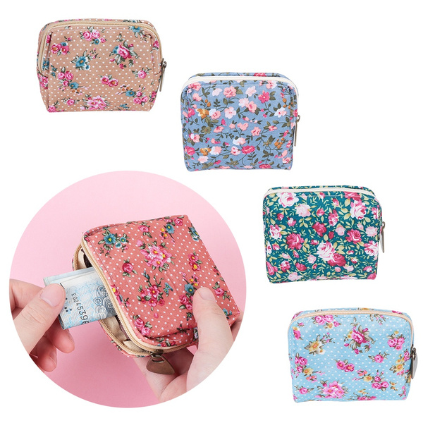Clutch  Credit Card Holder Change Bag Coin Purse  Small Pouch Floral Wallet